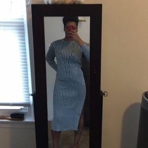 Large H&M sparkle Silver Dress